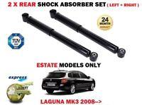 FOR RENAULT LAGUNA ESTATE MK3 2008 > NEW 2 X REAR SHOCK ABSORBER SHOCKER SET