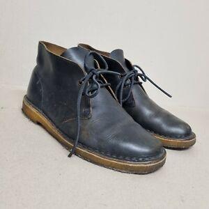 Clarks Originals Desert Boots Horween Leather Black- Size UK8.5  EU42.5 (box16)