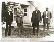 Harvey Firestone Henry Ford Thomas Edison and Ed Kingsford Dearborn MI 1930 LOOK