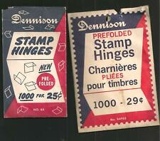 2 DENNISON Stamp Packets - Big One Open But Not Used, Small One 1/2 Used