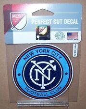 NEY YORK CITY FOOTBALL CLUB FC MLS LOGO WINCRAFT 4X4 DECAL SHEET STICKER