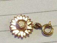 Clogau Welsh Gold, 9ct Yellow & Rose Gold Daisy Charm pre owned