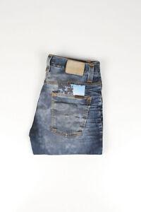 32334 Nudie Jeans Grim Tim Used BlackCoated Bleu Hommes Jean Taille 31/32