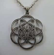 "Seed of Life Pendant 24"" Neck Talisman Numerology Metaphysical Pagan Wicca"