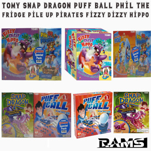 Tomy Snap Dragon Puff Ball Phil the Fridge Pile Up Pirates Fizzy Dizzy Hippo