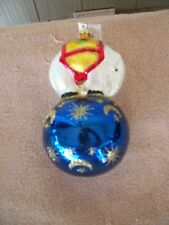 "Christopher Radko ""Center Ring Elephant on Blue Ball"" Christmas Ornament"