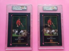 1997 Tiger Woods GOLD FOIL and TMC rookie Graded by PRO 10 Pristine