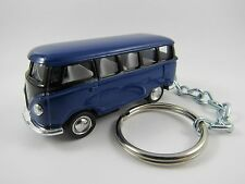 1966 VOLKSWAGEN VW Type 2 SAMBA BUS Blue & Black Key FOB Keyring Keychain