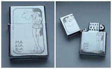 MILO MANARA -  chrome petrol lighter ------------ [Cd:521.mc-42-lP.] mini poster
