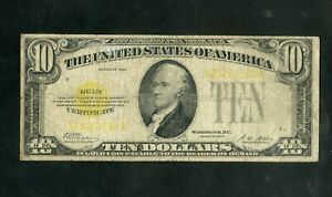 US Paper Money 1928 $10 Gold Certificate NO RESERVE!