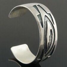 Rare Sadie Sam Sterling Silver, Navajo, Native American Cuff Bracelet, NR!