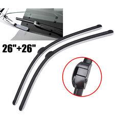 LHD Flat Front Windshield Wiper Blades Fit For VW Touareg Porsche Cayenne 08-