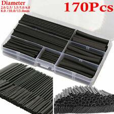 170pcs Heat Shrink Tubing Assortment Set Black With Box Various Sizes Safe Easy