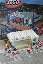 Lego 307 VW Auto Showroom alt old vintage rare mursten 1:87 1950s townplan 2