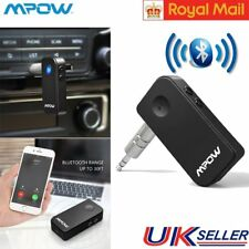 Mpow 3.5mm Wireless Bluetooth Stereo Car Phone Audio Music Receiver Adapter New