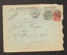 """ROUEN (76) TISSUS / FILATURE """"L. LEVOIVENEL"""" Voyagée en 1904"""