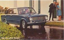 Fiat 124 4 Door Sedan USA Postcard