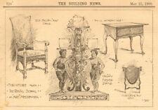 Furniture. Royal School of Art Needlework. Italian Jacobean Queen Anne 1900