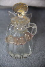 "UNMARKED Murano? Gold Fleck 4"" Angel Perfume Bottle Playing Accordian"