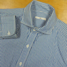 HARE Japan Blue w White Stripe Inner Gauze Layer Cotton Shirt Small EUC