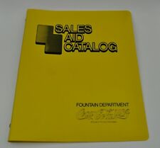Coca Cola Coke USA 1970er Fountain Department Plastik Ordner - Sales Aid Catalog