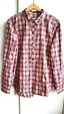 ORVIS Long Sleeve Shirt Womens M UK 14 Red Plaid Loose Fit NWT £85  Gift Idea