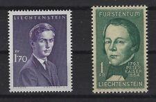 v1277 Liechtenstein/ Prominente   MiNr 439 + 448 **
