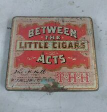 Vintage Between the Little Cigars Acts Vintage Tobacco Tin P. Lorillard Company