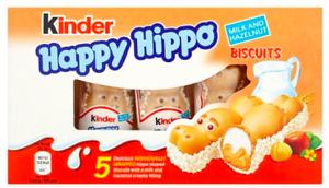 Kinder Happy Hippos Milk & Hazelnut Biscuits 10/15 x 5 Pack Best Before 11/11/21