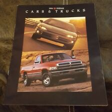 1994 Dodge  Cars and Truck with Viper    Sales Info Brochure
