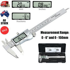 "150mm 6"" Stainless Steel Electronic Digital Vernier Caliper Depth Measurement AU"