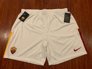 2017-18 Nike Breathe Men's AS Roma Away Soccer Jersey Shorts XXL 2XL Forza Roma