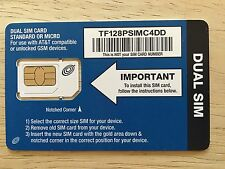 New Tracfone Bring Your Own Smart Phone Gsm 4G/3G Standard/Micro Sim Card