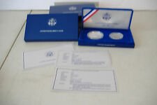 ~1986 LIBERTY SILVER DOLLAR & HALF DOLLAR PROOF SET~SAN FRANCISCO~