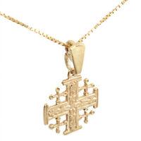 Pendant Jerusalem Cross Consecrated Church of Holy Sepulcher Gilding Silver 925