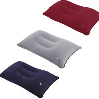 KQ_ HD_ CW_ Practical Inflatable Flocked Air Pillow for Rest Bed Travel Cushion
