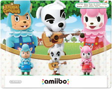 AMIIBO ANIMAL CROSSING 3 PACK TRIPACK MERINO K.K. ALPACA NINTENDO NEU SALED