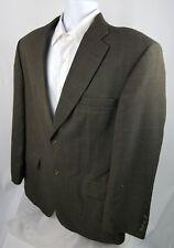 Haggar brown windowpane 2 button sport coat men's size 44R