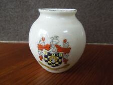 CRESTED CHINA WARE HALIFAX CREST SMALL VASE BY WY KNOT 5.5 CMS