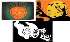 3x5 Happy Halloween 3 Pack Flag Wholesale Set #194 Combo 3'x5' Banner Grommets