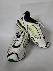 Nike Air Max Tailwind IV Running Shoes White/Volt/Black AQ2567-100 Men Size 12