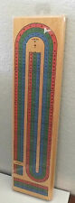 Deluxe Wooden 3-Track Continuous Cribbage Board +Pegs & Instructions New Sealed