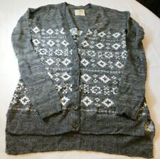 Hollister California Women's Junior's Long Sleeve Button Sweater Size M EUC --