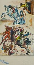 "SALVADOR DALI CELLINI ""The Fight"" HAND NUMBERED SIGNED ETCHING"