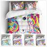 3D Rainbow Unicorn Dream Bedding Set Duvet Cover Pillowcase Kids Comforter Cover