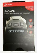 Cobra RAD 450 Laser Radar Detector Long Range False Alert Filter Voice Alert