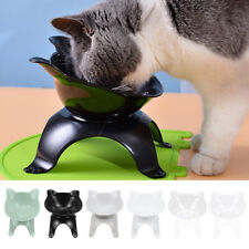 Us Pet Bowl with Raised Stand Cat Dog Food Dish Water Feeding Single Bowl Feeder