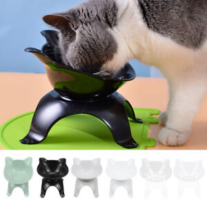 Pet Bowl with Raised Stand Cat Puppy Food Dish Water Feeding Single Bowl Feeder!
