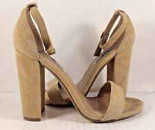 Steve Madden Carrson Sand Suede Ankle Strap Sandals Womens Size US 7,5B