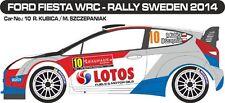 DECALS 1/43 FORD FIESTA WRC #10 - KUBICA - RALLYE DE SUEDE 2014 - MFZ D43284